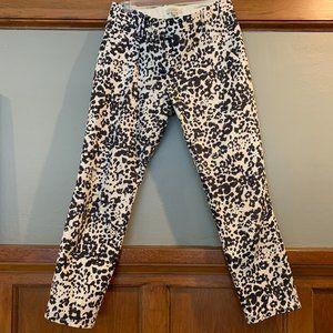 J.Crew Animal Print Pant size 2